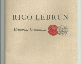 Rico Lebrun  Rico Lebrun Memorial Exhibition Paintings and Drawings 1965