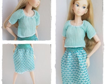 Momoko Outfit / Blouse And Skirt In Set / Momoko  Clothes