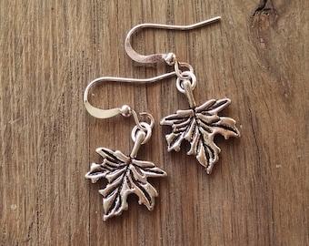 Maple Leaf Charm Earrings, Leaf Jewelry, Petite Jewelry, Nature Earrings, Tree Earrings, Nature Jewelry, Fall, Autumn, Seasonal