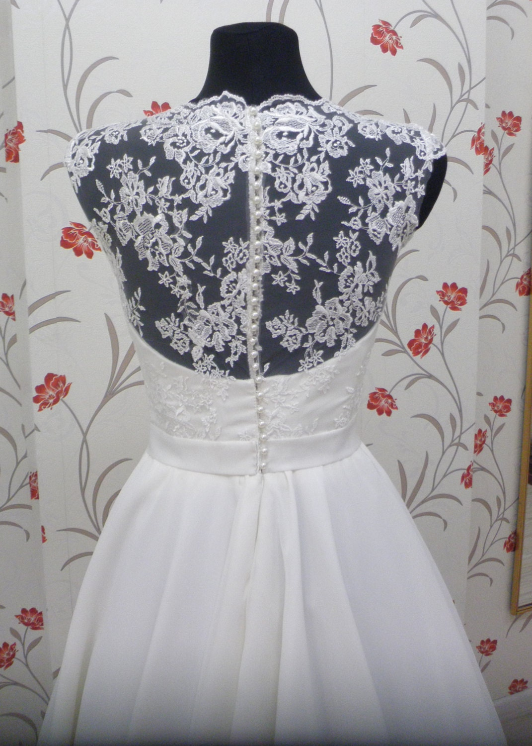 Vintage Inspired Tea Length Wedding Dress with Lace Corset