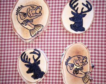Deer AND Fish Coasters