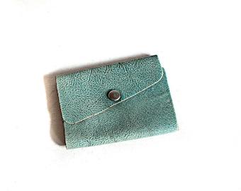 Vintage Blue Tri-fold Key Holder
