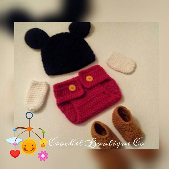 Crochet Mickey Mouse Outfit Pattern Image Collections Knitting