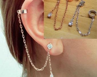 Silver ear cuff (single)