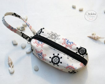 Canvas pencil Case, Zipper Pouch, Small Cosmetic Bag.