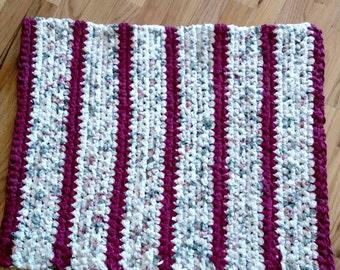 Crocheted Rag Rug 28 x 21