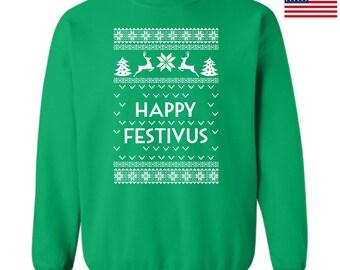 Happy Festivus Ugly Christmas Sweatshirt Design Ttd1