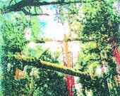 SILKSCREEN PRINT: 'Deep Forest', Illustration, Art, Hand-made, Original, Limited Edition
