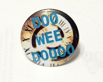 """Doctor Who - Opening Theme Time Spiral - Doo Wee Doooo - 1.25"""" or 1.5"""" Pinback Button - Magnet - Keychain"""