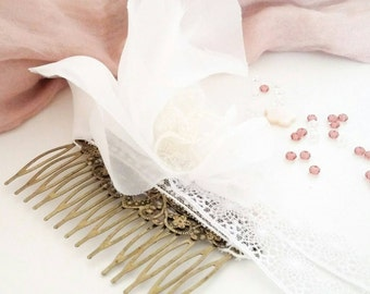 Realisation tailor-made ♡ bridal comb Bohemian Chic