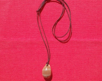 Handmade draw-string necklace with Greek shell