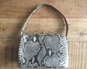 15% off the Entire Shop. Vintage Snakeskin Hand Bag