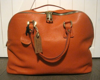Handbag leather Orange