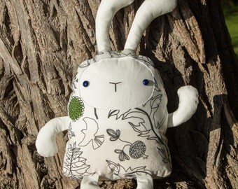 "Stuffed plush toy, rabbit, bunny, hare, animal named ""Krol'"""