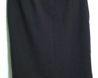 Black cotton Pencil Skirt - Sz 12