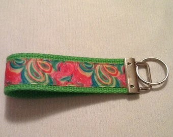 Lilly inspired ribbon keyring
