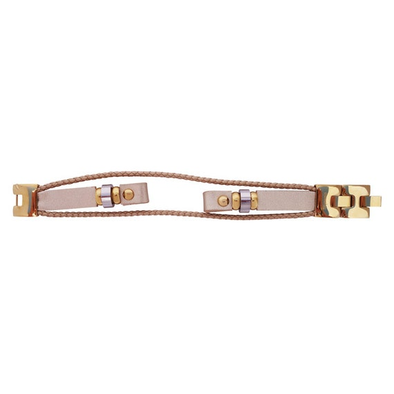 Interchangeable leather band Fusion Fusion 2 - GOLD - by fitjewels -