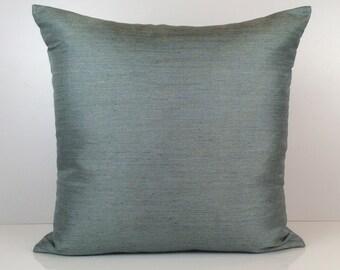Teal Pillow, Throw Pillow Cover, Decorative Pillow Cover, Cushion Cover, Pillowcase, Accent Pillow, Satin Blend Pillow, Toss Pillow, Decor