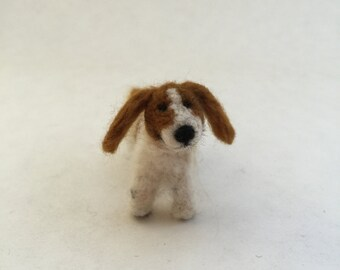 Needle-Felted Cavalier King Charles Spaniel Dog Sculpture