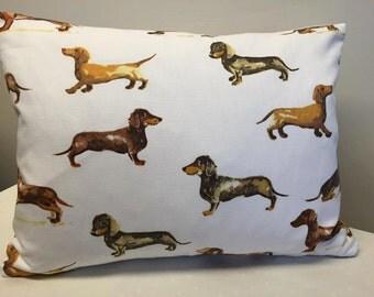 Dachshund Print Cushion, Dog Print Cushion, Dog Cushion, Dog Pillow