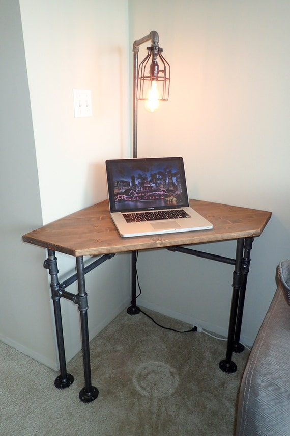 Industrial Pipe Corner Desk pub height or normal height