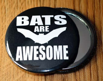 Bats are awesome pocket mirror - makeup mirror