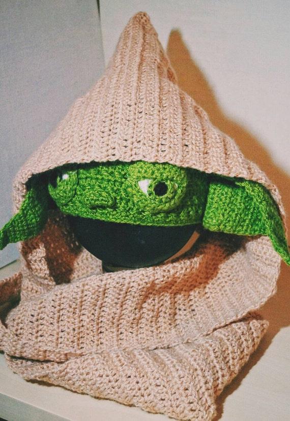 Yoda Crochet Pattern PDF, Star Wars Costume, Hooded Scarf ...
