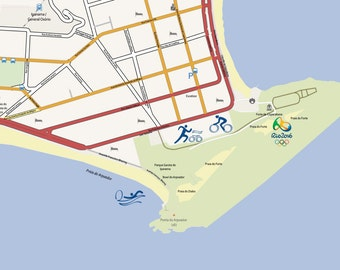 Map of Copacabana and Ipanama