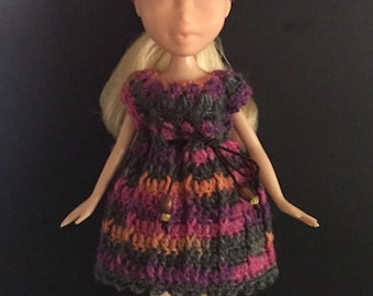 Artist Pallet Dress and Hair Karma Head Scarf Set to fit 10 inch fashion dolls.
