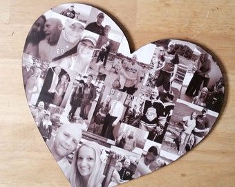 Valentines Photo Collage, Heart Photo Collage, Personal Collage, Photo Collage, Personal Photo Collage, Customized Photo Letters