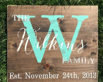 Monogram sign | wooden sign | wedding date | wedding gift | wall decor | personalized | handmade | sign | monogram | wedding sign |
