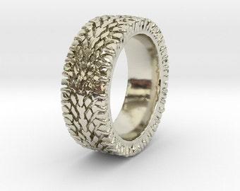Tire Tread Ring, Street Love, Wedding Band, Tire Jewelry, Car Jewelry, Car ring, Car geek ring
