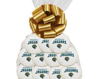 12pack NFL Jacksonville Jaguars Decorated Sugar Cookies