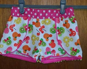 Minnie Mouse Fruit Coachella shorts