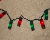 Red and Green Shotgun shell Christmas lights