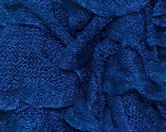 Destash Sale ** Mambo Navy Blue Scarf Ruffle Yarn, Art Yarn, Novelty Yarn, Unique Color, Scarf Yarn, 23763