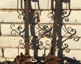 SALE!!! Vintage Pair of 1950's Scrolled Iron Sconces Made in Mexico