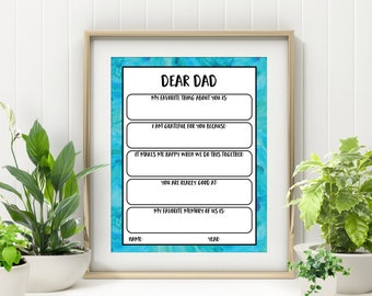 Printable Father Card - Last Minute Father's Day Gift - Gift for Men - Gift for Him - Printable Father's Day Card - From Daughter - From Son