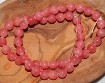 """16"""" Strand of 8mm Smooth Round Jade ***Dyed Pink Beads #3"""