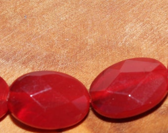 """16"""" Strand of """"AAA"""" Quality 13 X 9mm faceted Oval Carnelian Beads #85"""