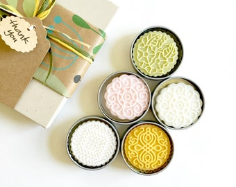 Gift Set - 4 Solid Lotion Bars | 100% Natural | Spa and Relaxation | Hands and Foot Moisturizer |  Gift for Her | Thanksgiving | Christmas