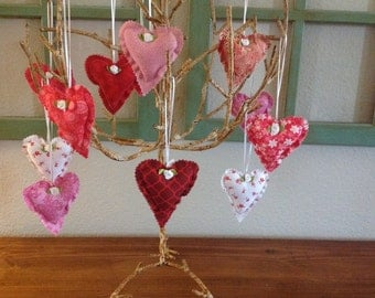 Valentine Heart Ornaments - Set of 12 #1070-16