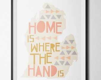 Home Is Where The Hand Is Poster