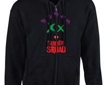 Suicide Squad Full Zipper Hooded Sweater