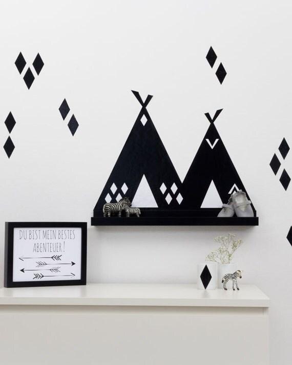 kinderzimmer deko tipi wandtattoo sticker f r ribba. Black Bedroom Furniture Sets. Home Design Ideas