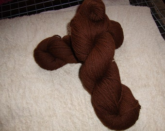 Alpacas - hypoallergenic - fiber comes from our Alpaca Bonny - Brown without dyeing - 150 g -.