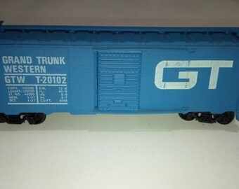 Vintage Rare Lionel HO Scale Model Railroad Train Grand Trunk Western GTW T-20102 Boxcar
