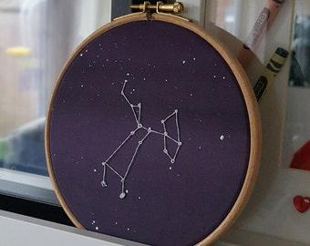 Star Sign   Constellation   Zodiac   Astrology   Birth   Handsewn hoop