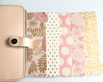 Planner Dividers: Blush Pink & Gold Glam - @gradient_colors17!