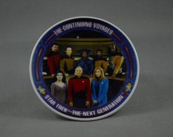 Vintage Star Trek Hamilton Collection Plate, The Continuing Voyages NG